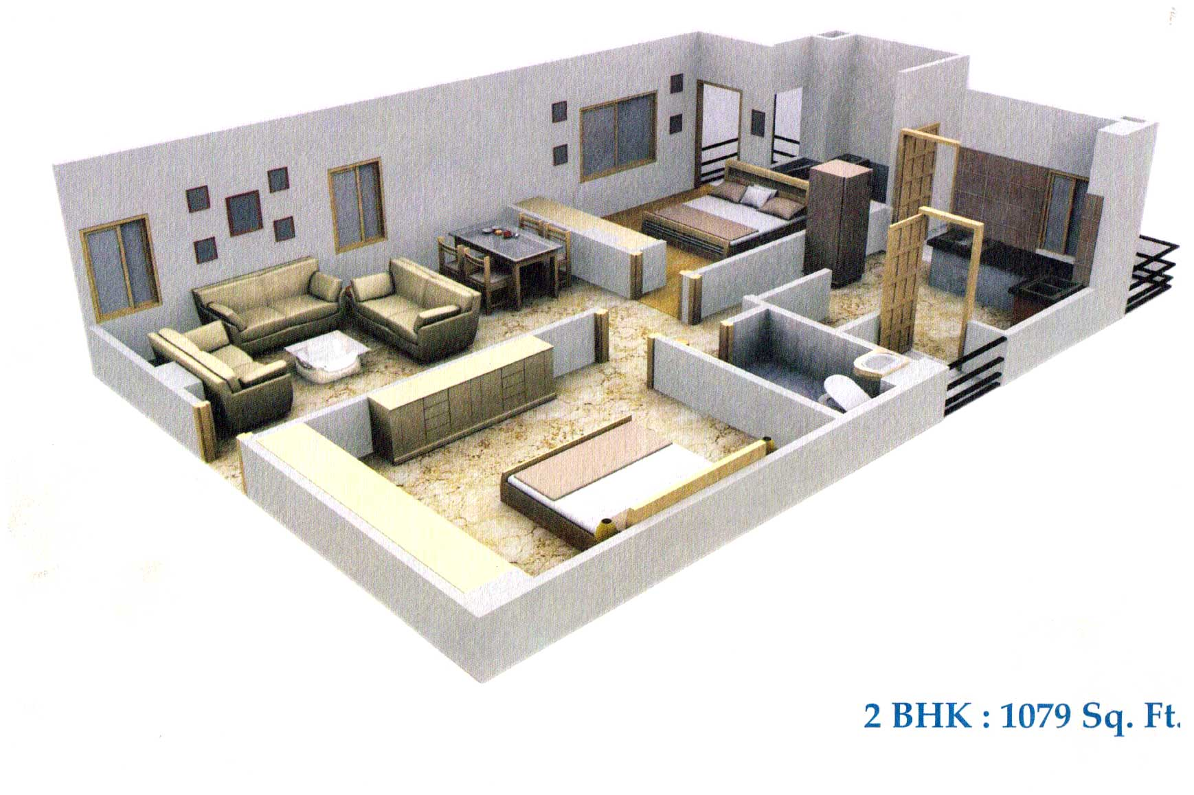 Prayas udaipur rajasthan india 2 3 bhk apartments in for 2 bhk house designs in india