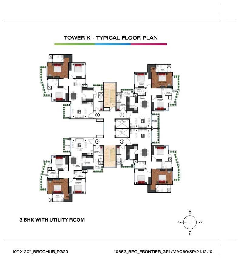 Godrej frontier gurgaon haryana india 3 bedroom for Frontier plans