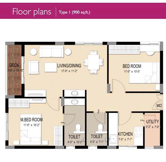 Trident galaxy bhubaneswar odisha india residential for Floor plans 900 sq ft apartment