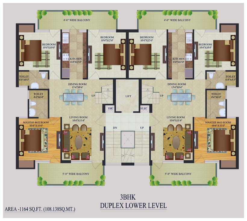 Duplex house plans indian style homedesignpictures for House plans indian style in 1200 sq ft