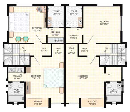 Bungalow plans designs india images for Plan of bungalow in india