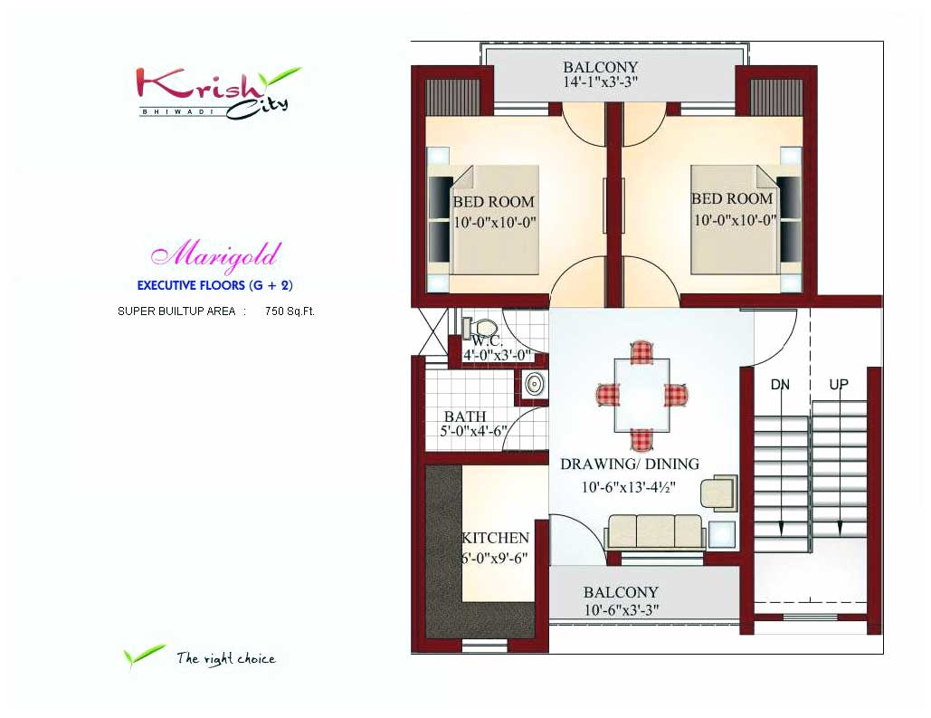Krish city bhiwadi rajasthan india integrated township in for Floor plans 750 square feet