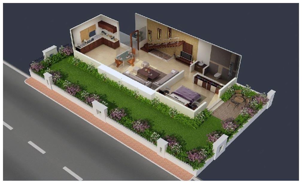 Ground Flooramp First Floor Elevation From Pune | Joy Studio Design ...