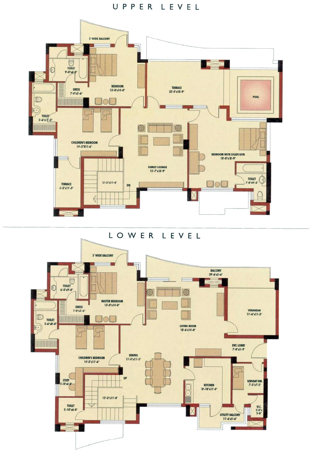 4 Bedroom Duplex Floor Garage Plan Floor Plans