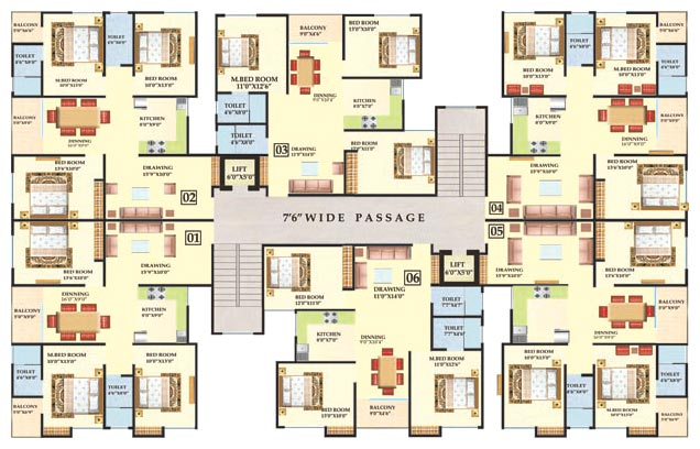 Surya digha compound patna bihar india residential for Family compound floor plans