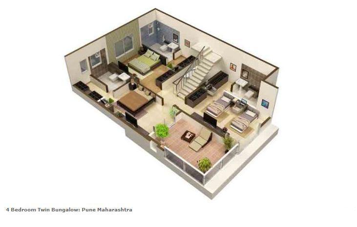 Twin bungalow floor plan joy studio design gallery for Twin bungalow plans