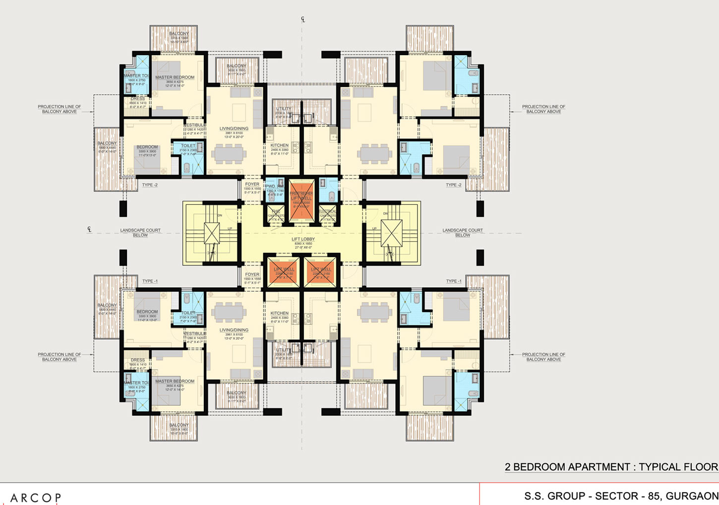 Residential Apartment Floor Plans