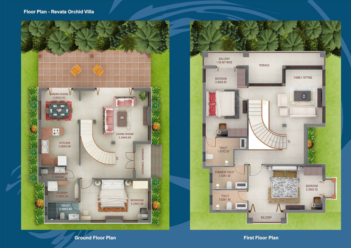 Revata panjim goa india residential villas in panjim Indian villa floor plans