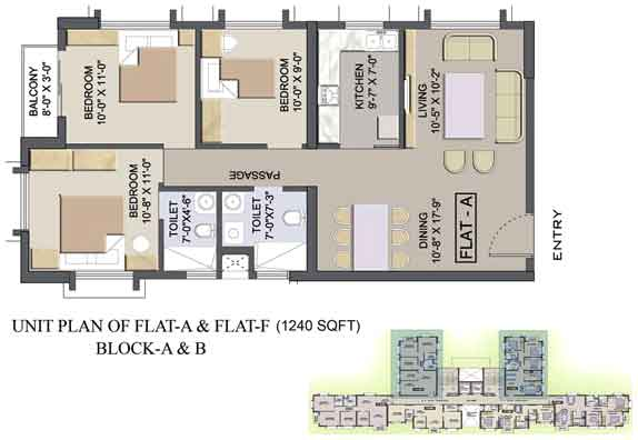 Eden court kolkata west bengal india residential for Apartment complex layout