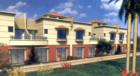 Emerald park villas pune maharashtra india elegant row for Row house plans india