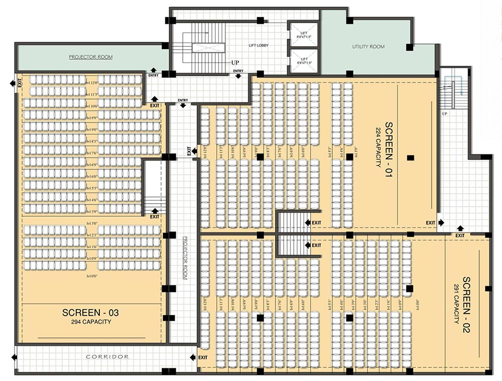 Chandra pacific mall jamshedpur jharkhand india shopping for Multiplex floor plans