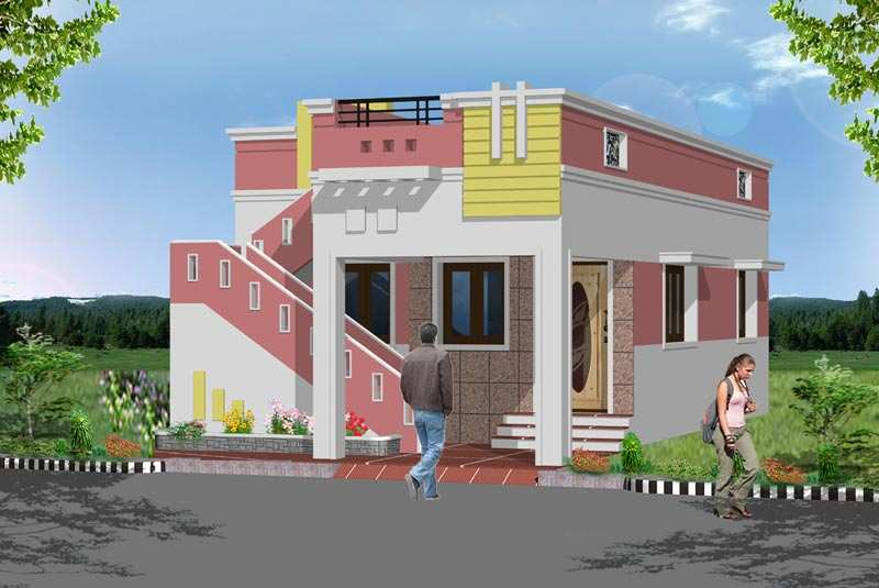 2800 square feet 260 square meter 311 square yards 3 for Tamilnadu home design photos