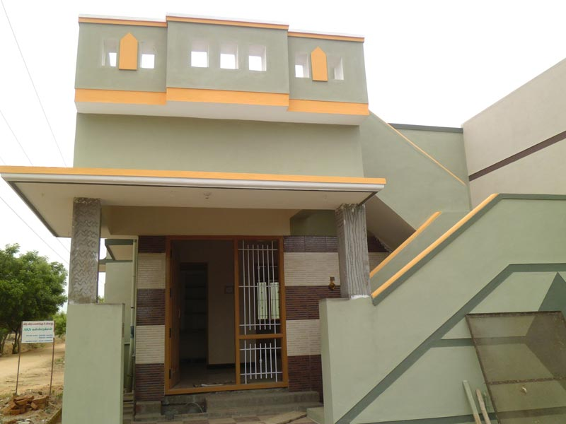 1bhk model home plan in tamil nadu joy studio design for Single floor house designs tamilnadu