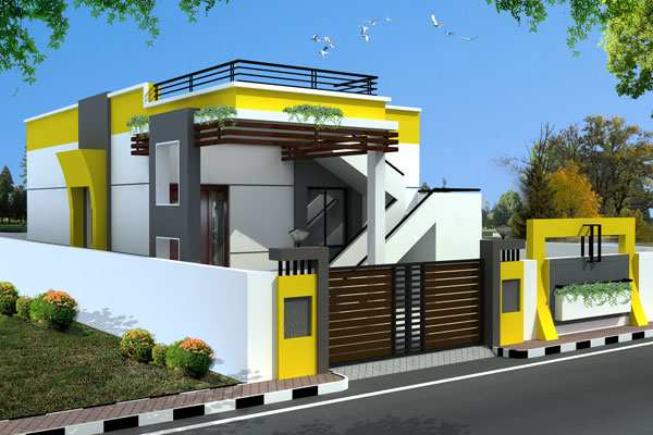 Nadu Style Home Front Elevation : House elevation photos in tamil nadu joy studio design