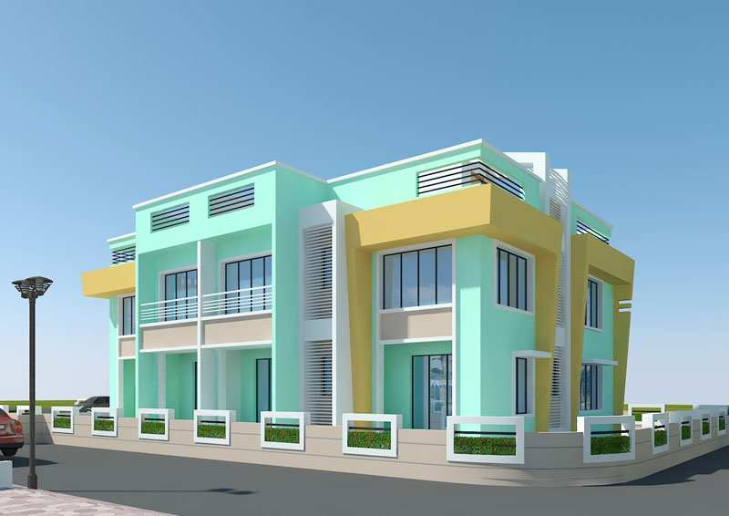 Front Elevation Of House In Kolkata : Duplex house elevation in kolkata joy studio design