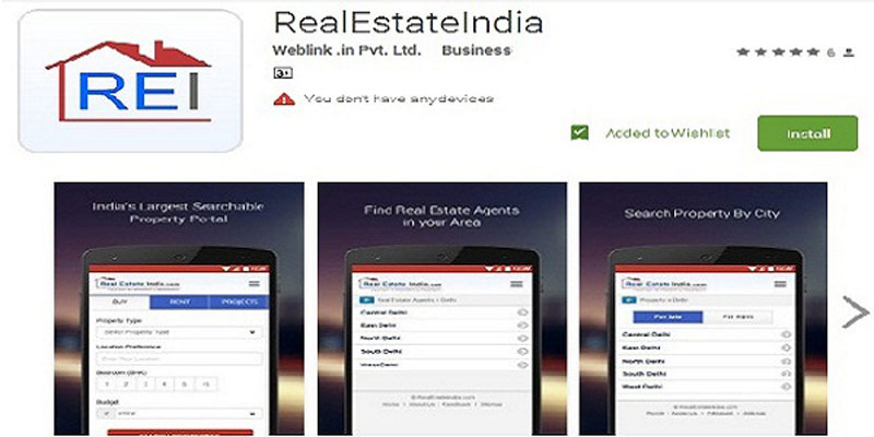 RealEstateIndia Applications