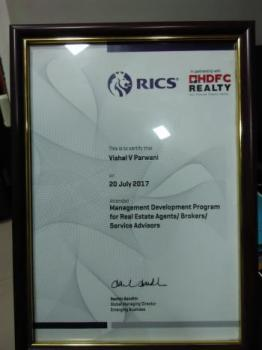 certificate - Management Development program - Royal Institute Chartered Surveyors