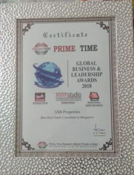 certificate by Prime Time -  Global business leadershp Award 2018