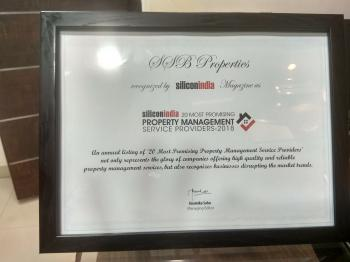 recognized as one  among 20 Most Promising Property Management service providers 2018