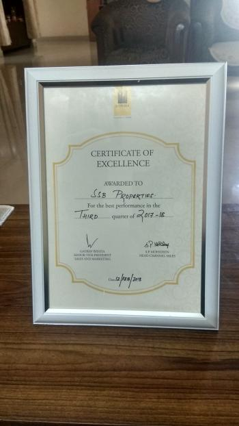 certificate of excellence - best performance