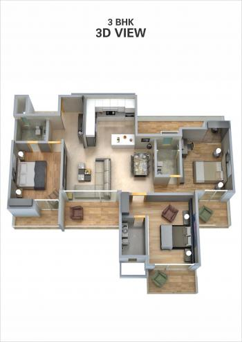 3BHK 3D View