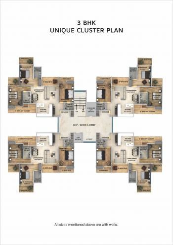 3 BHK Cluster