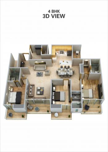 4 BHK 3D View