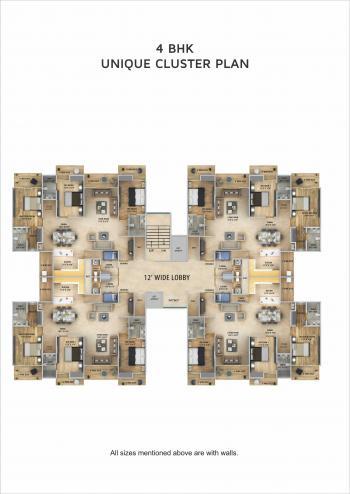 4 BHK Cluster Plan