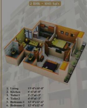 flat 2bhk layout