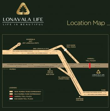 Lonavala Life, A Project by Samarth Estates. Location Map