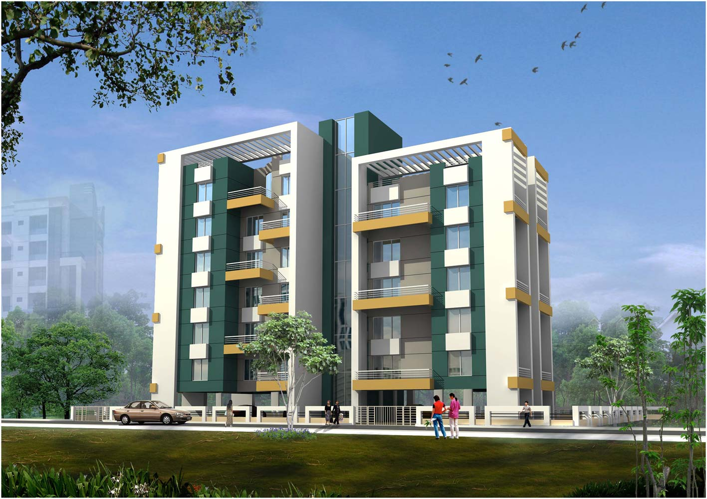 Manas dreams baner pune flats for sale in manas dreams for Building an estate