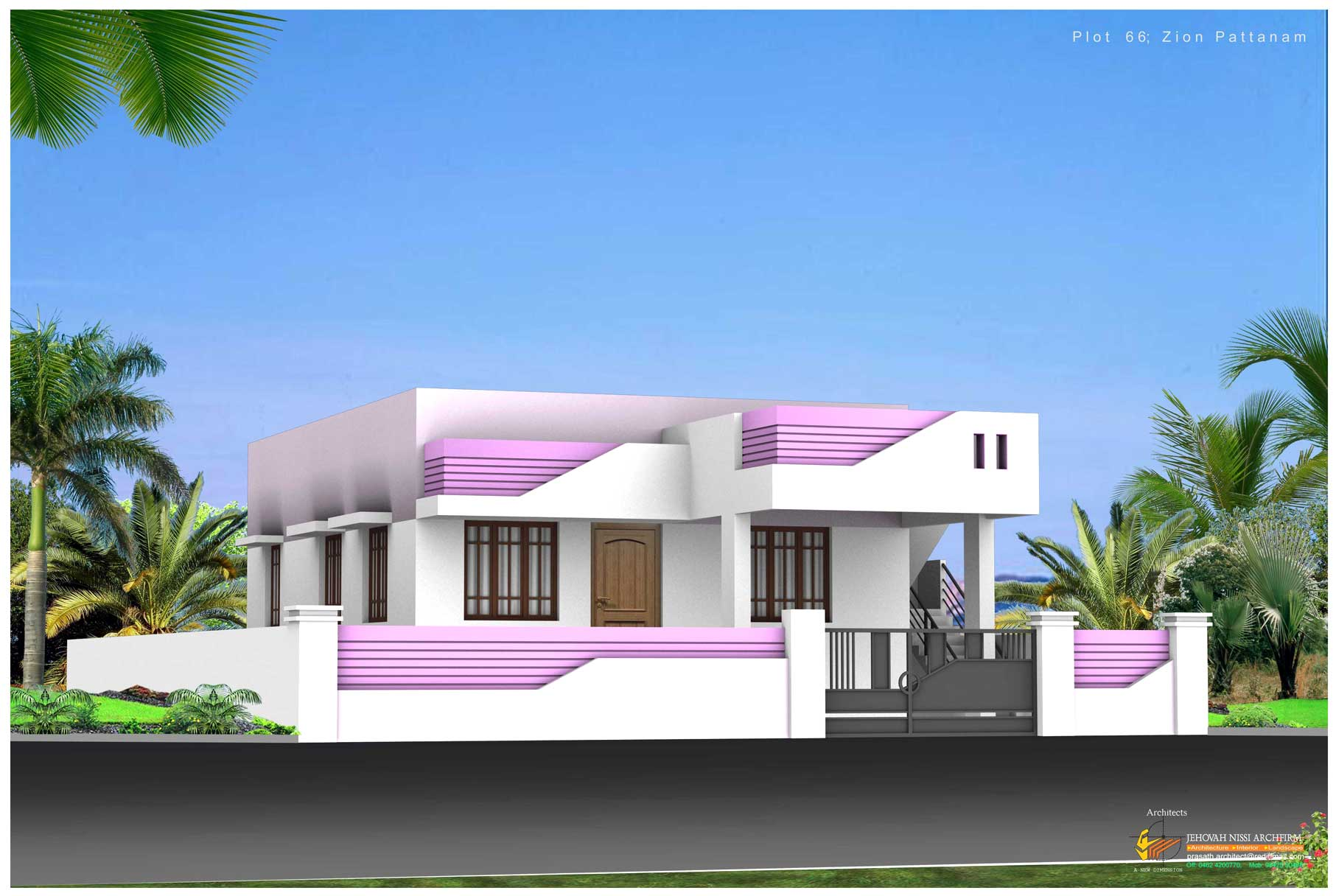 House elevation photos in tamil nadu joy studio design for Single floor house designs tamilnadu