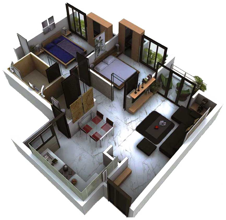 Apartment design for 800 sq ft home design 2015 for Indian house plan for 800 sq ft