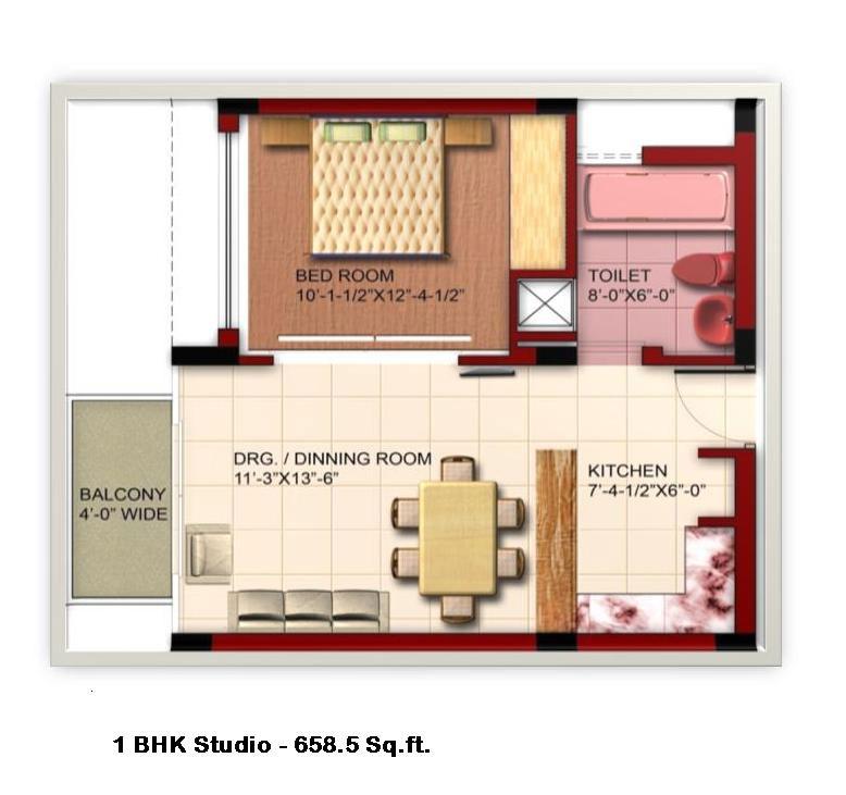 Rajgadh estates ludhiana punjab india residential colony for 1 bhk room design