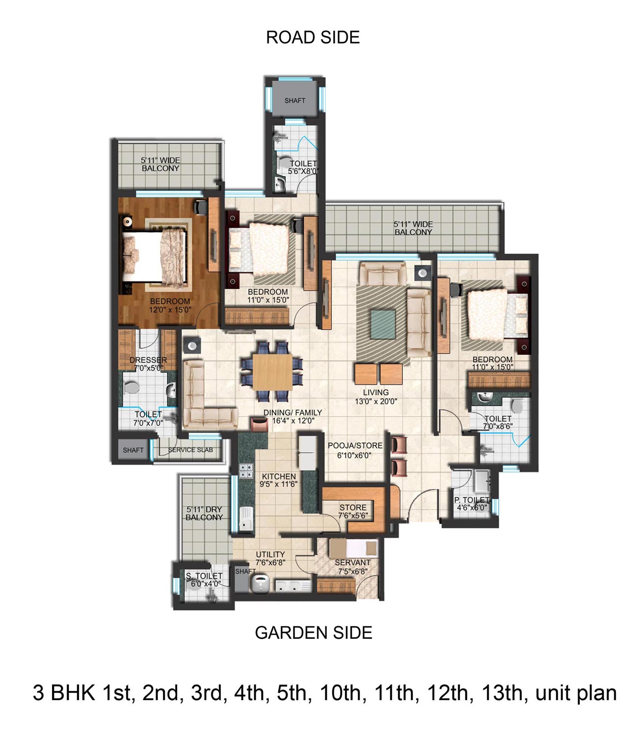Falcon view mohali punjab india 3 4 bhk luxurious for 13th floor design