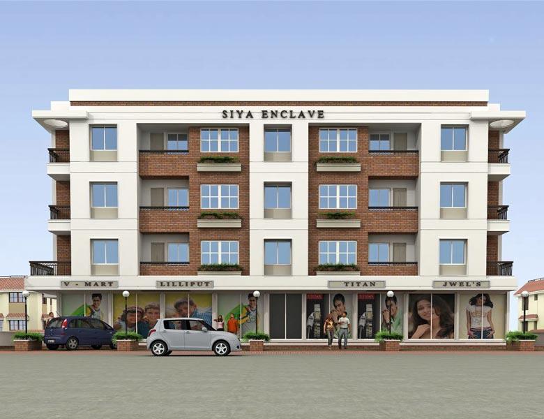 Siya Enclave, Vadodara - Shops and 2 & 3 BHK Apartments