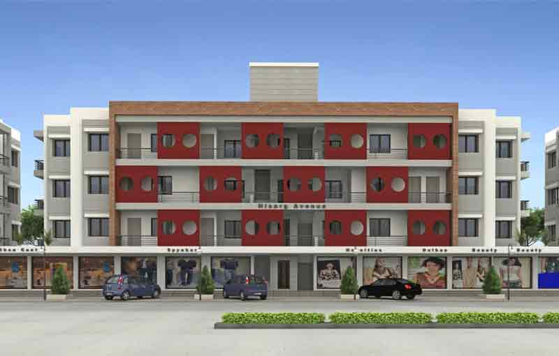 Nisarg Avenue, Vadodara - Shops and 2 & 3 BHK Apartments