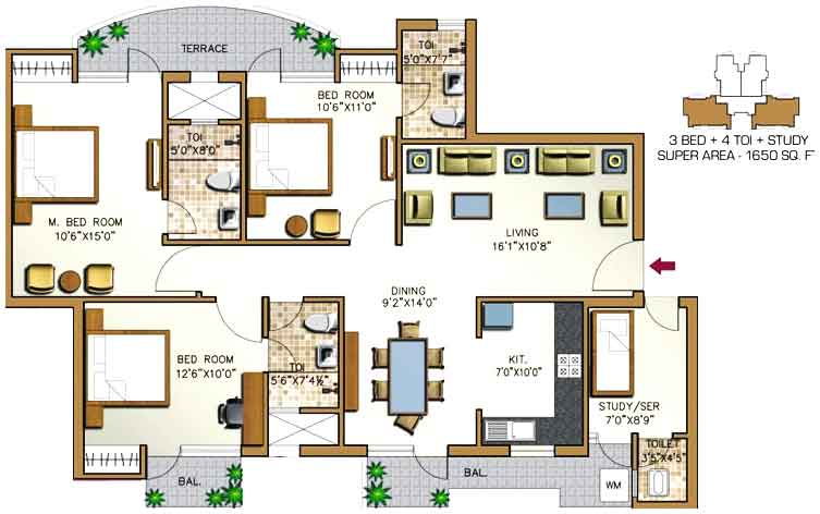 1 BHK Flats for Sale in Sector 76 Noida | Buy/Sell 1 BHK ...