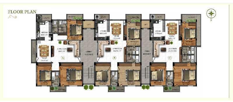 3 BHK 1770 Sq.ft. Residential Apartment for Sale in Perundurai, Erode