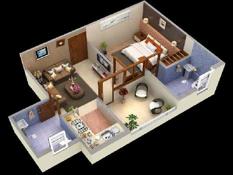 1 BHK 562 Sq.ft. Residential Apartment for Sale in Motichur, Haridwar