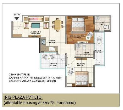 3 BHK 600 Sq.ft. Residential Apartment for Sale in Greater Faridabad
