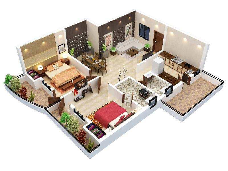 2 BHK Flats & Apartments for Sale in Lingiyadih, Bilaspur - 1255 Sq.ft.