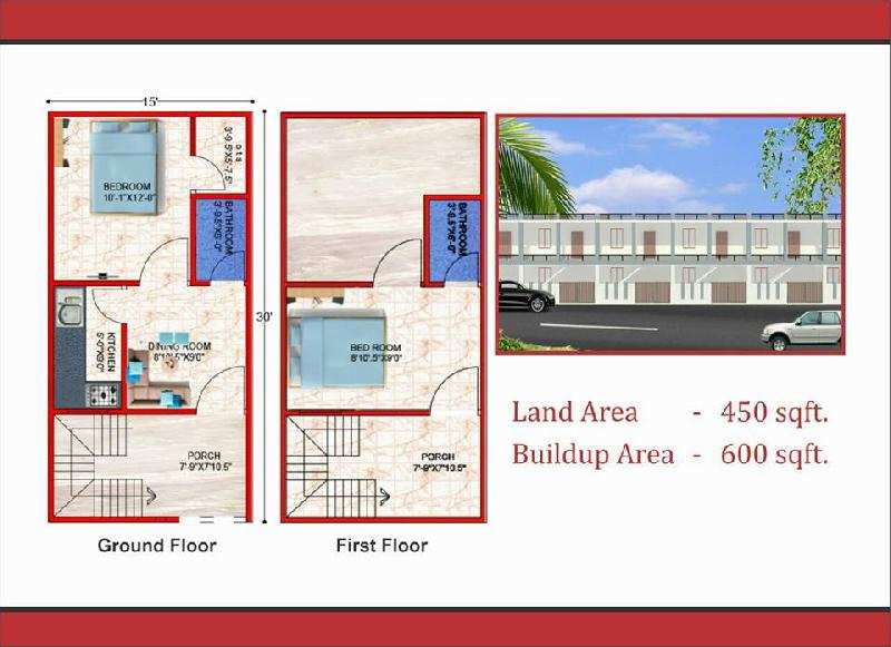 2 BHK Individual House for Sale in Hardoi Road, Lucknow - 450 Sq. Feet