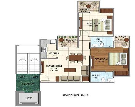 2 BHK 850 Sq.ft. Residential Apartment for Sale in Tapukara, Bhiwadi