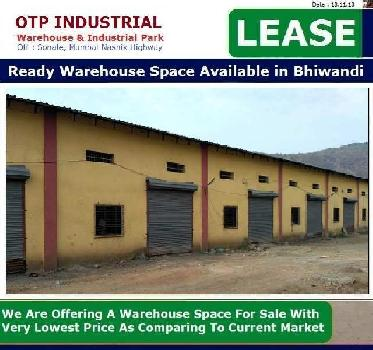 15000 Sq.ft. Warehouse for Sale in Bhiwandi, Thane