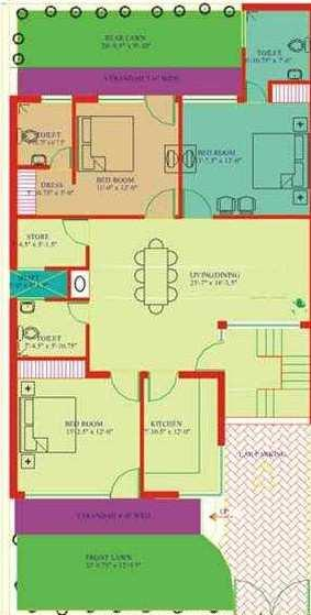 4 BHK 2776 Sq.ft. House & Villa for Sale in Raibareli Road, Lucknow