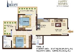 2 BHK Flat for Sale in Sector 86, Faridabad