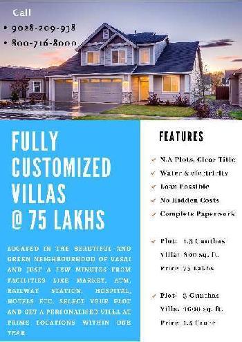 2 BHK 800 Sq.ft. House & Villa for Sale in Mulgaon, Vasai, Thane