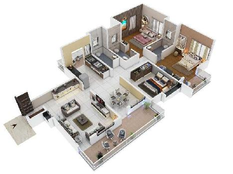 3 BHK 1442 Sq.ft. Residential Apartment for Sale in Wardha Road, Nagpur
