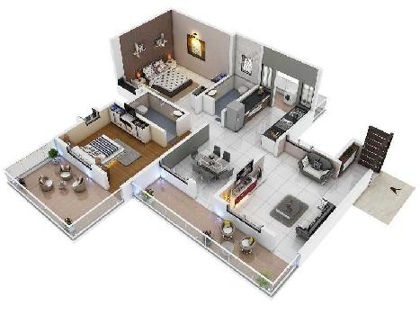 2 BHK 1264 Sq.ft. Residential Apartment for Sale in Wardha Road, Nagpur